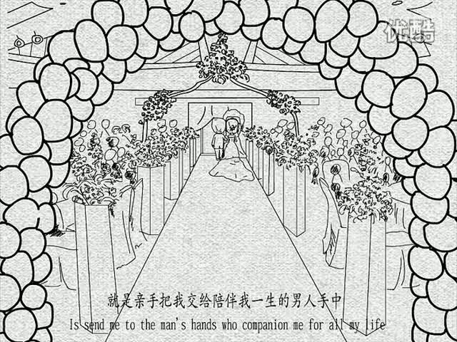 婚纱西装手绘设计图