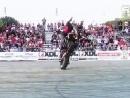 超霸气的摩托车表演