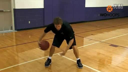[篮球教学-胯下运球]八字绕环转球练习
