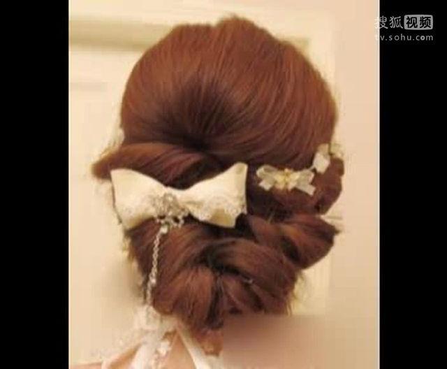 盘发发型扎法步骤 新娘盘发视频