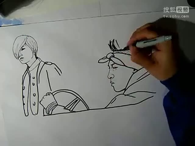 达人手绘BigBang的《Blue》,太厉害了,每个人的特点都画的十分逼真,佩服~!
