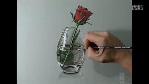 瑰马克笔手绘视频