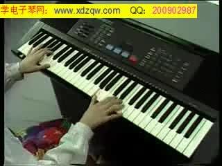 电子琴指法入门图片