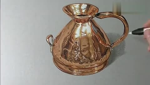 马克笔茶壶手绘