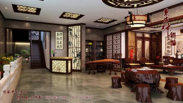 蘇州王總紅木家具展廳中式裝修設計案例賞析mdash